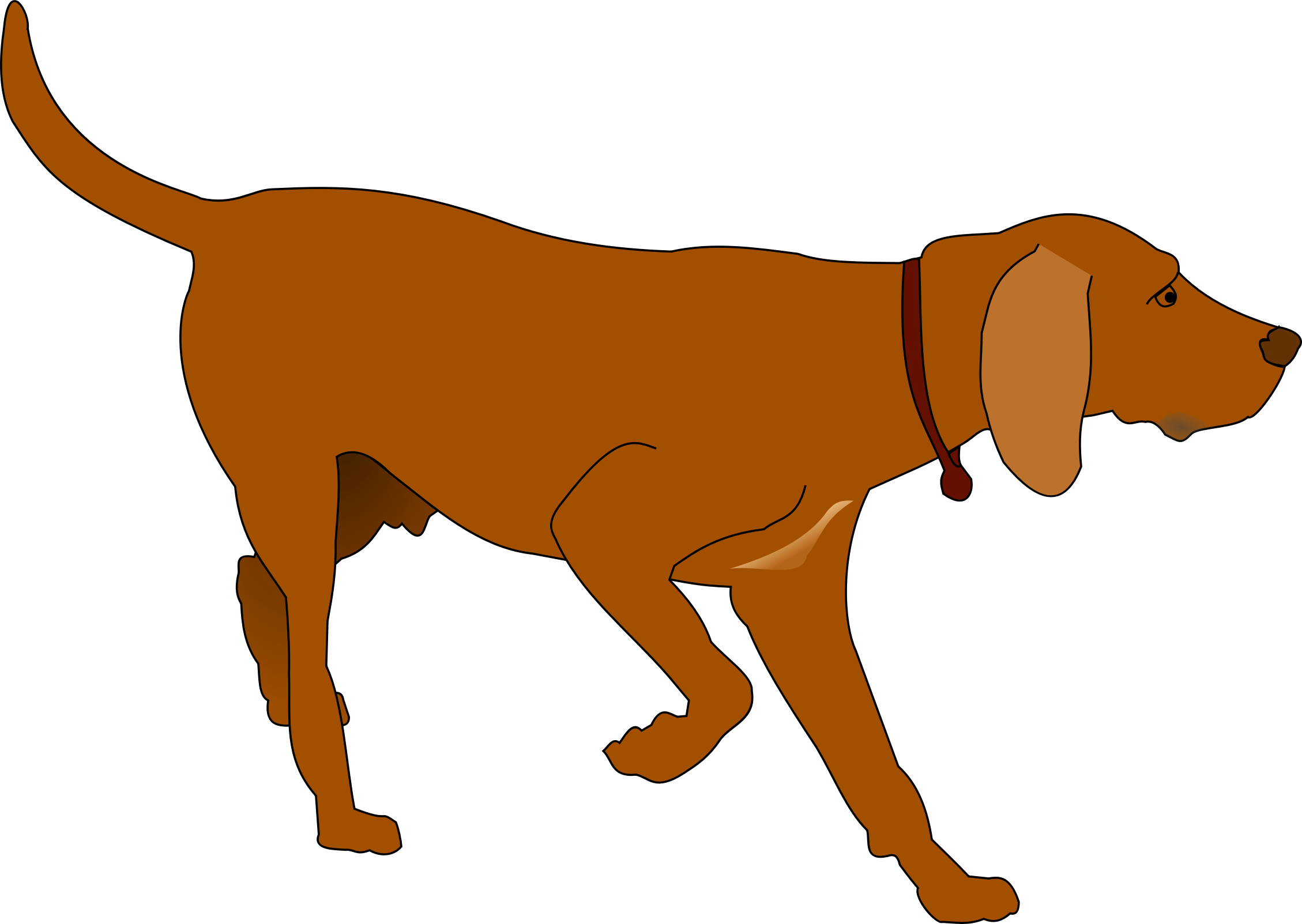 Dog clipart vector vector transparent stock Hunting Dog Vector Clipart image - Free stock photo - Public Domain ... vector transparent stock