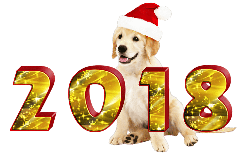 Happy new year dog clipart image free download 2018 Dancing transparent PNG - StickPNG image free download