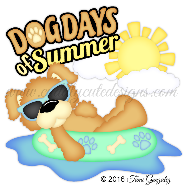 Summer dog clipart clipart black and white download Dog Days of Summer clipart black and white download