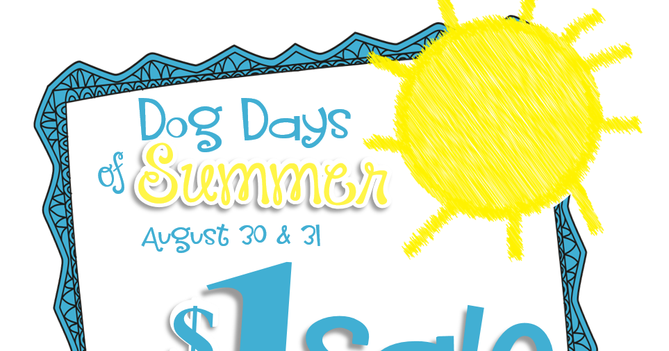Dog days of summer clipart clipart freeuse library Mrs. Ehle's Kindergarten Connections: Dog Days of Summer $1 SALE! clipart freeuse library
