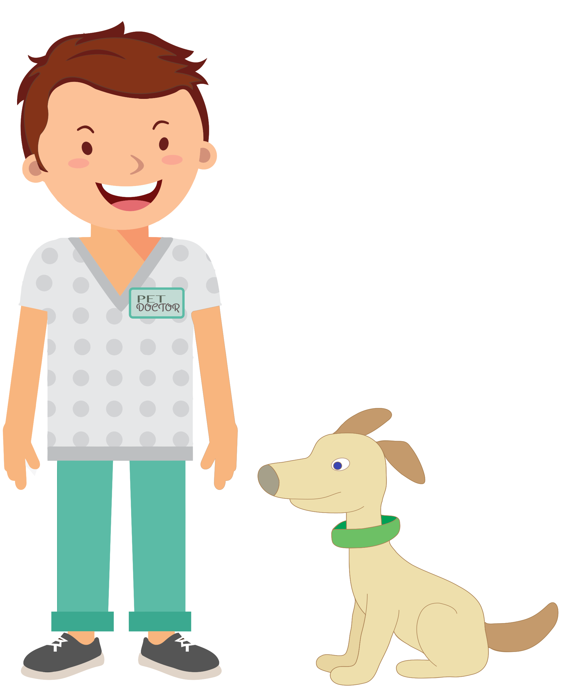Dog doctor clipart svg freeuse stock Clipart - Happy Veterinarian svg freeuse stock