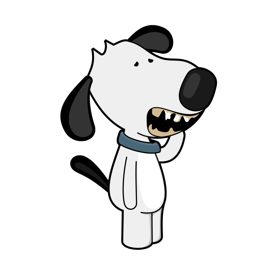 Kidney disease in dogs. Dog drinking water clipart