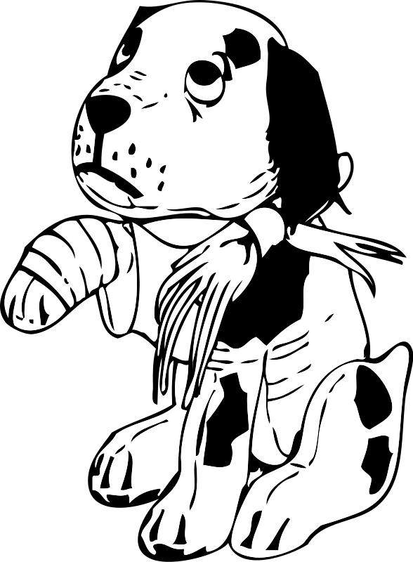 Dog drinking water clipart black and white. Sad panda free images