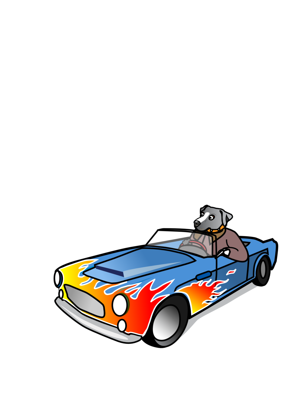 Dog driving car clipart image free Public Domain Clip Art Image | Dog in Sports Car | ID ... image free