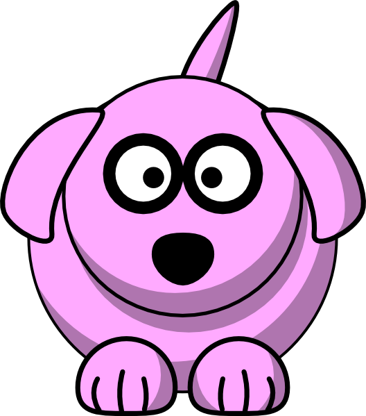 Smiling dog clipart svg library library Pink Cartoon Dog Clip Art at Clker.com - vector clip art online ... svg library library
