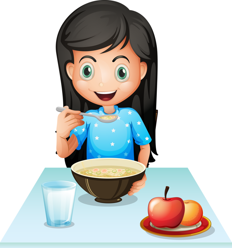 Person eating apple clipart banner black and white Breakfast cereal Eating Fast food Clip art - Girl eating breakfast ... banner black and white