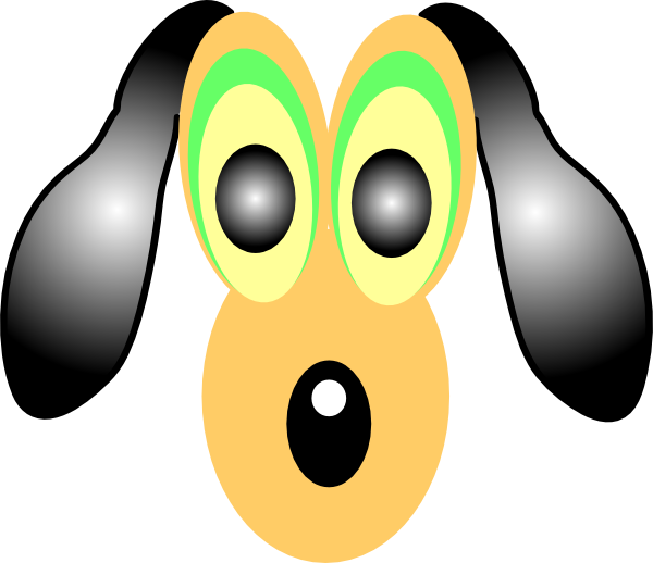 Dog eyes clipart clipart freeuse download Cartoon Dog With Large Eyes Clip Art at Clker.com - vector clip art ... clipart freeuse download