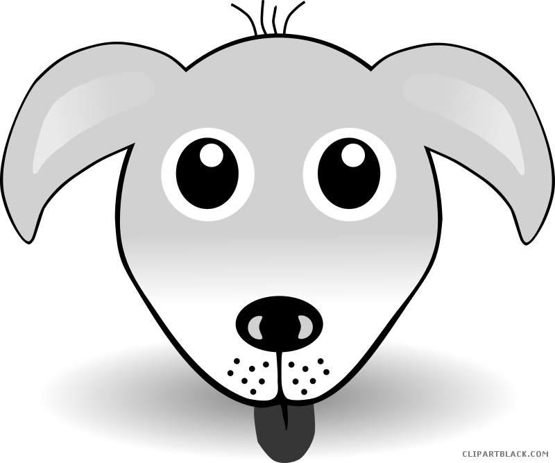 Dog face clipart black and white banner library download Dog Face Clipart - ClipartBlack.com banner library download