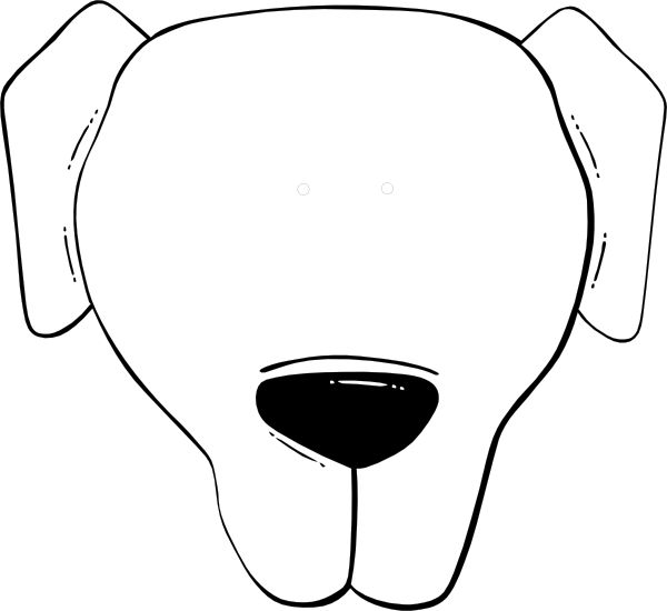 Dog face clipart black and white free download Flp Dog Face Clip Art at Clker.com - vector clip art online, royalty ... free download