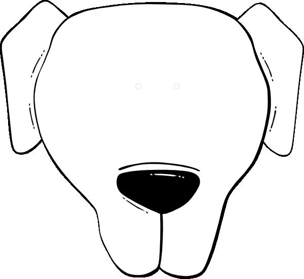 Dog face clipart black and white. Flp clip art at