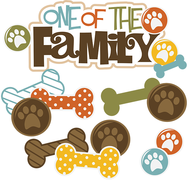 Family clipart with dog. One of the svg