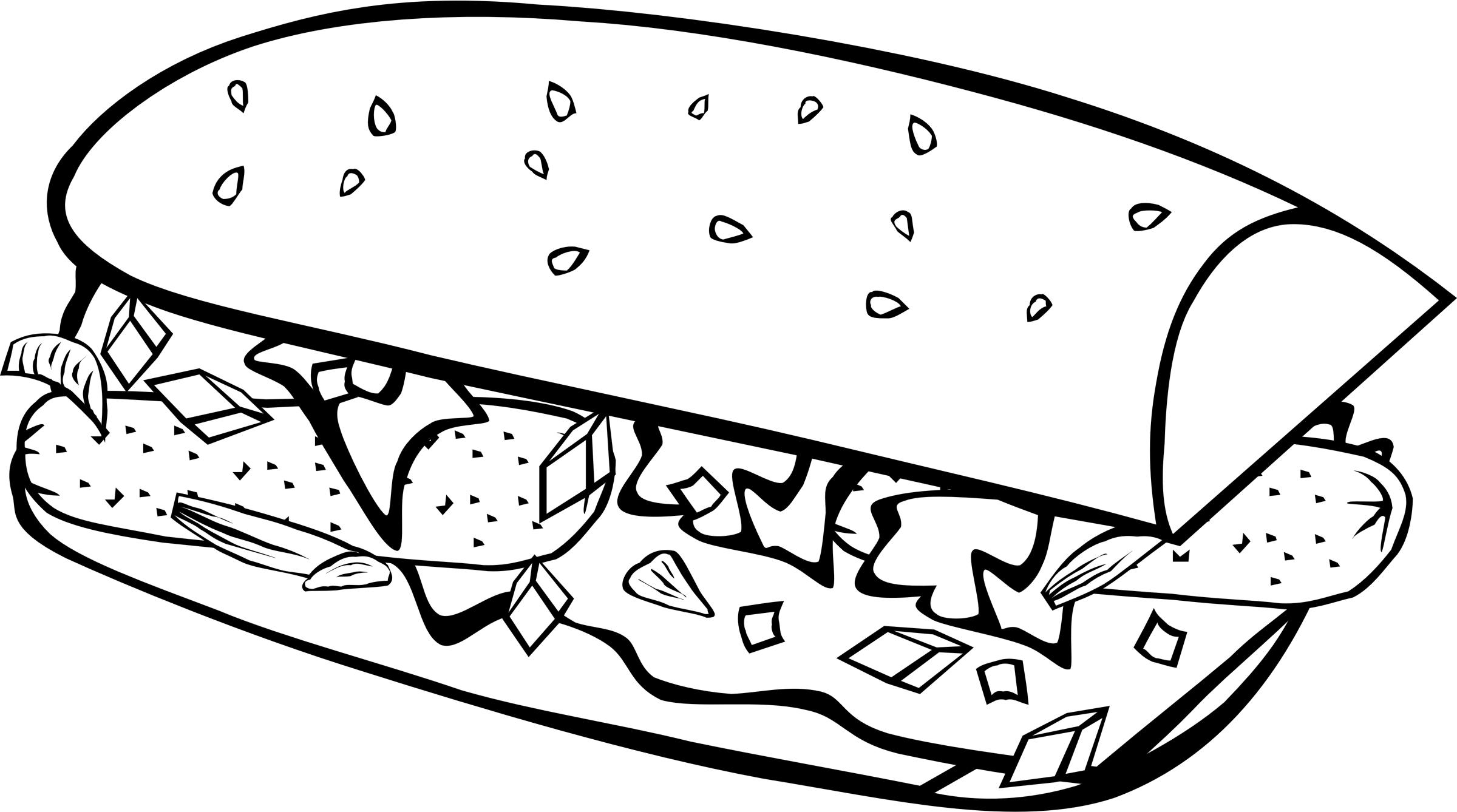 collection of breakfast. Dog food clipart black and white