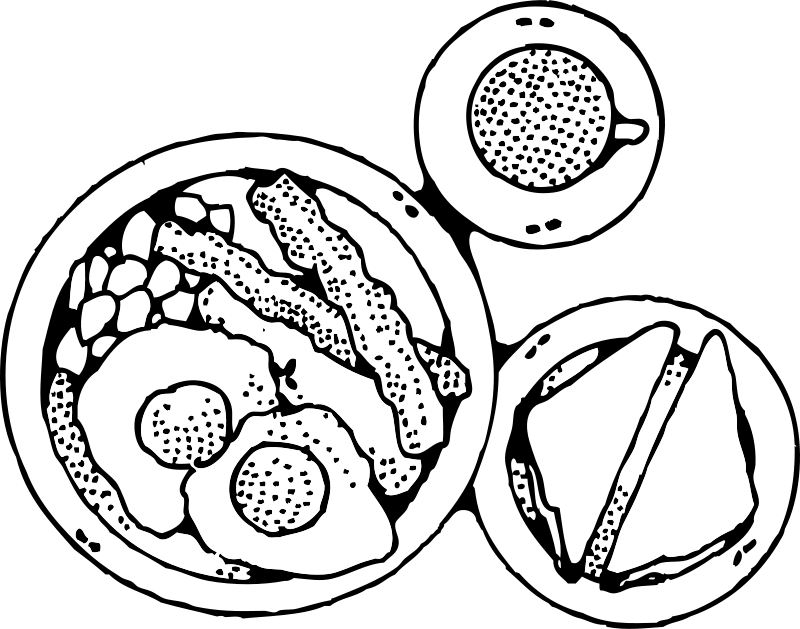 Free plates of collection. Dog food clipart black and white