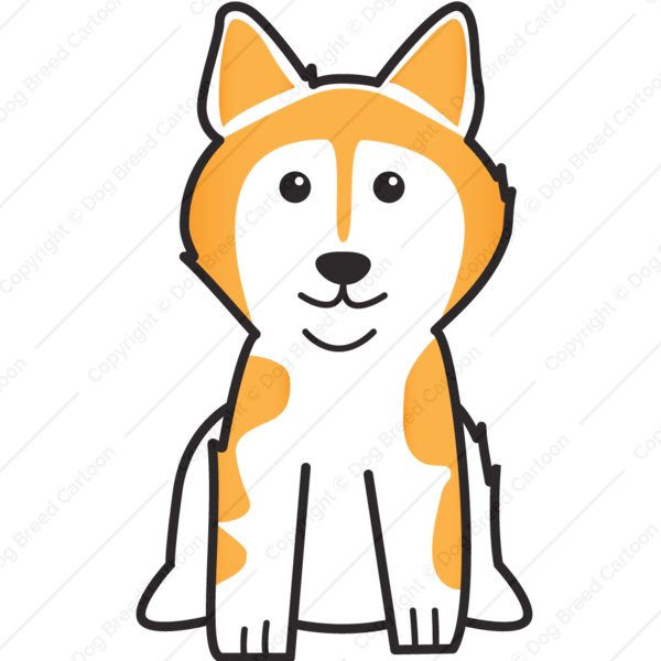 Dog frame clipart svg black and white download Alaskan Malamute   Silver Edition   Dog Breed Cartoon   Download ... svg black and white download