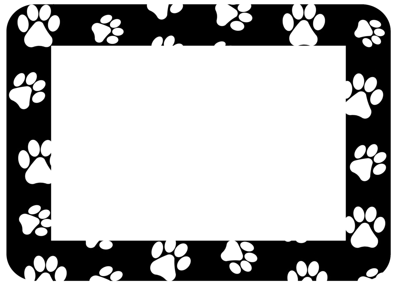 Dog frame clipart. Ziemlich frames for pictures