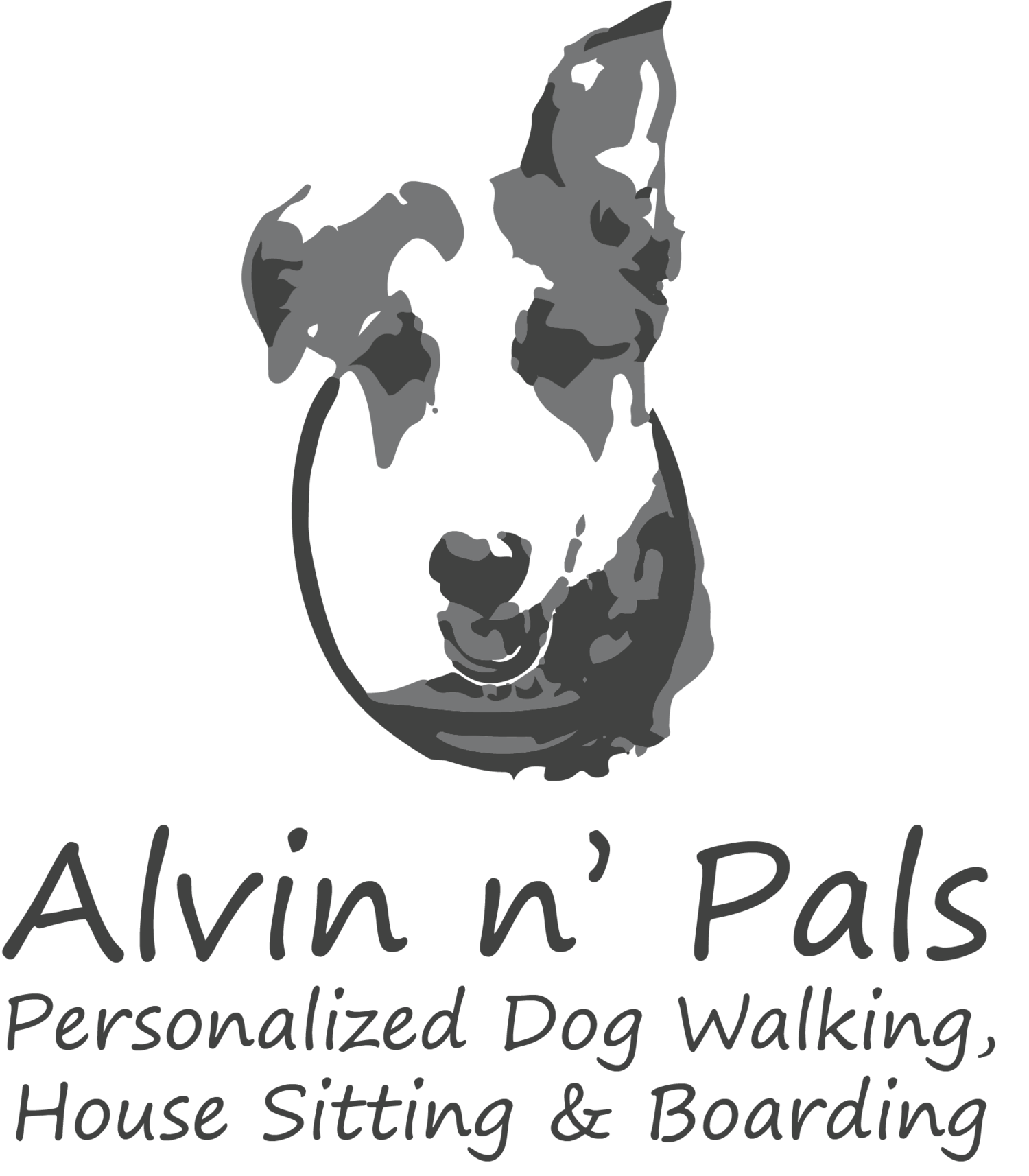 Dog frisbee clipart banner black and white Services & Fees — Alvin n' Pals banner black and white