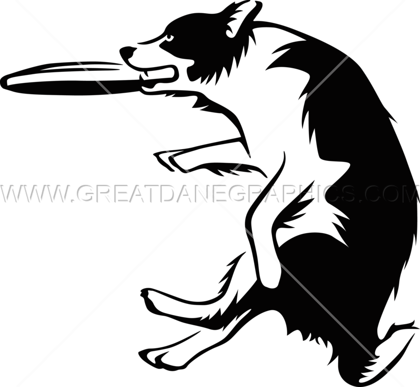 Dog frisbee clipart picture transparent library Frisbee Catch | Production Ready Artwork for T-Shirt Printing picture transparent library