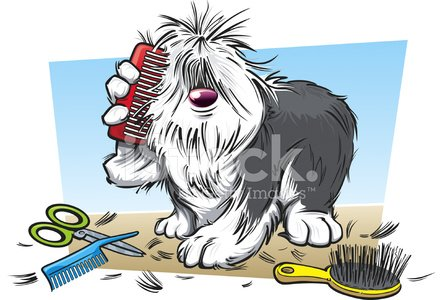 Dog hair clipart graphic royalty free Hairy Dog Brushing Own Hair premium clipart - ClipartLogo.com graphic royalty free