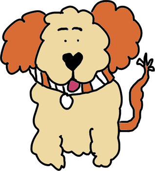 Dog hair clipart svg library download Curly hair dog clip art colors and fun puppy teachers svg library download