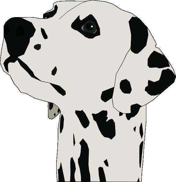 Dog head clipart clip royalty free Dalmatian Head Clip Art at Clker.com - vector clip art online ... clip royalty free