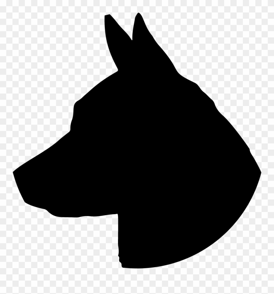 Dog head silhouette clipart png black and white library Above And Beyond What I Was Expecting - Vector Dog Head Silhouette ... png black and white library