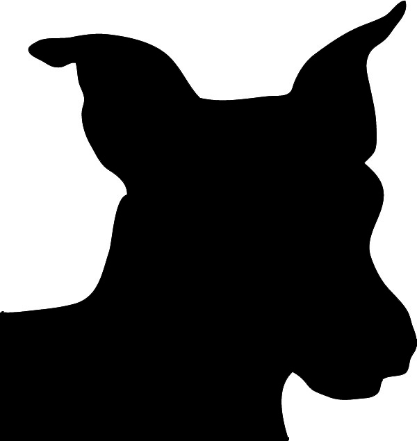 Dog head silhouette clipart banner library stock Dog Silhouette banner library stock