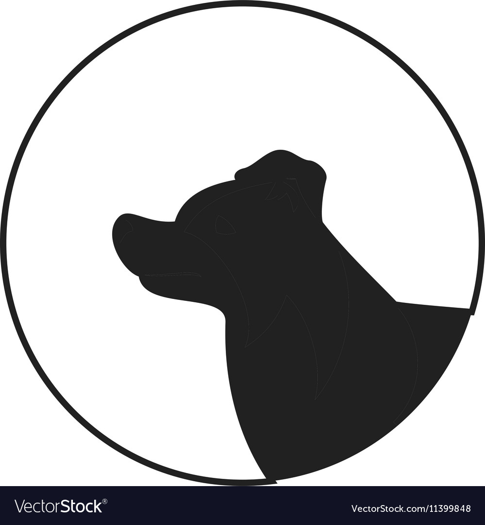 Dog head silhouette clipart clip art black and white library Silhouette of a dog head border collie clip art black and white library