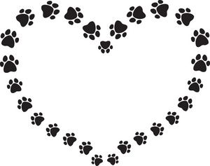 Dog hearts clipart png library stock 15 Must-see Paw Print Clip Art Pins | Dog paw prints, Clip art and ... png library stock