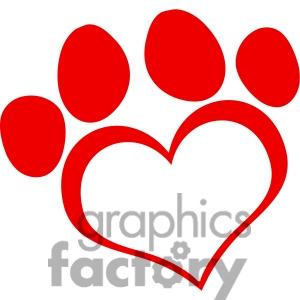 Dog hearts clipart image royalty free Dog Paw Heart Clipart | Clipart Panda - Free Clipart Images image royalty free