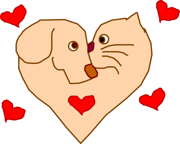 Dog hearts clipart jpg Dog And Cat Heart Clip Art at Clker.com - vector clip art online ... jpg