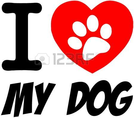 Dog hearts clipart vector black and white download 1,730 Paw Print Heart Cliparts, Stock Vector And Royalty Free Paw ... vector black and white download