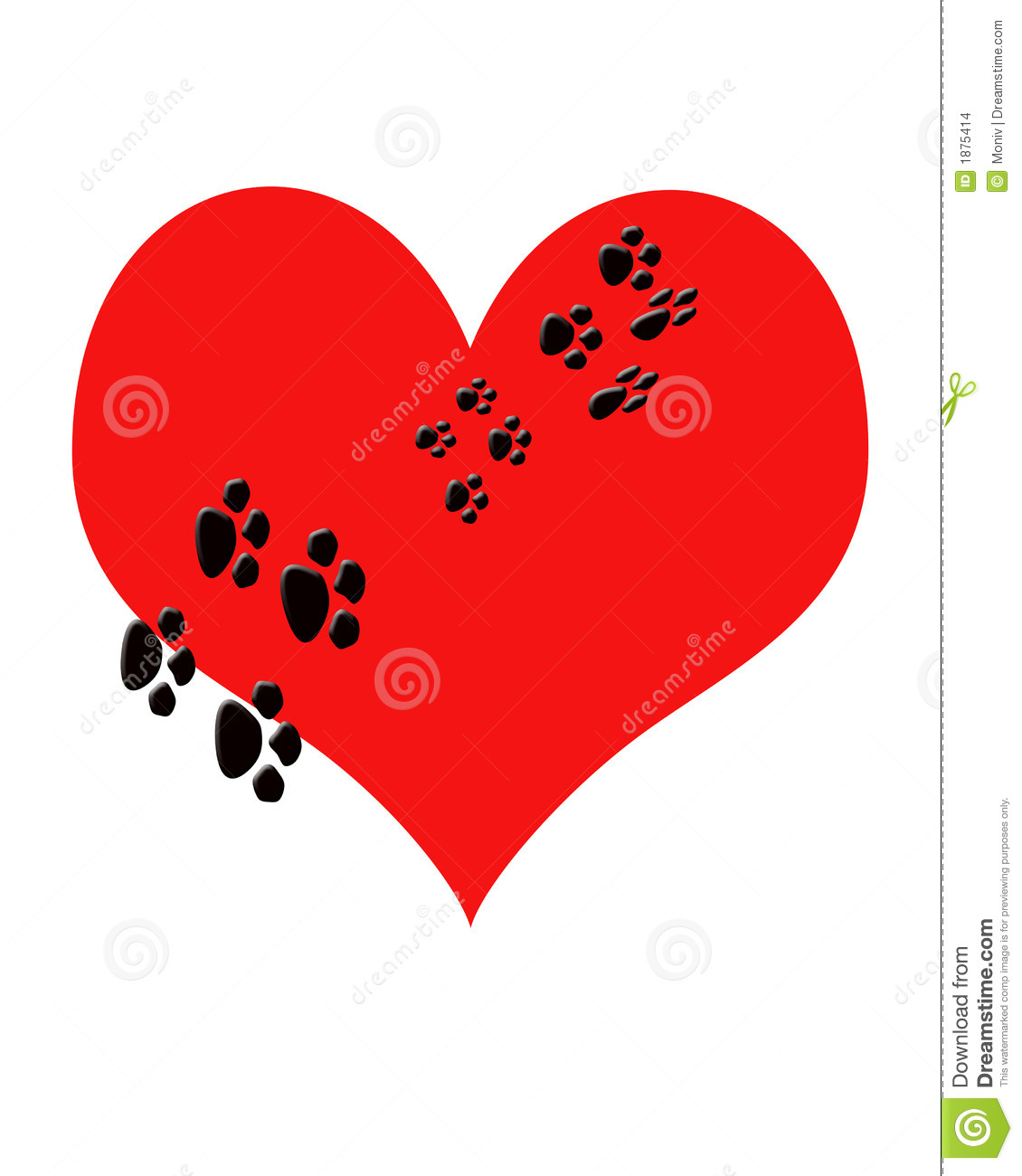 Dog hearts clipart image download Heart Paw Print Clipart - Clipart Kid image download