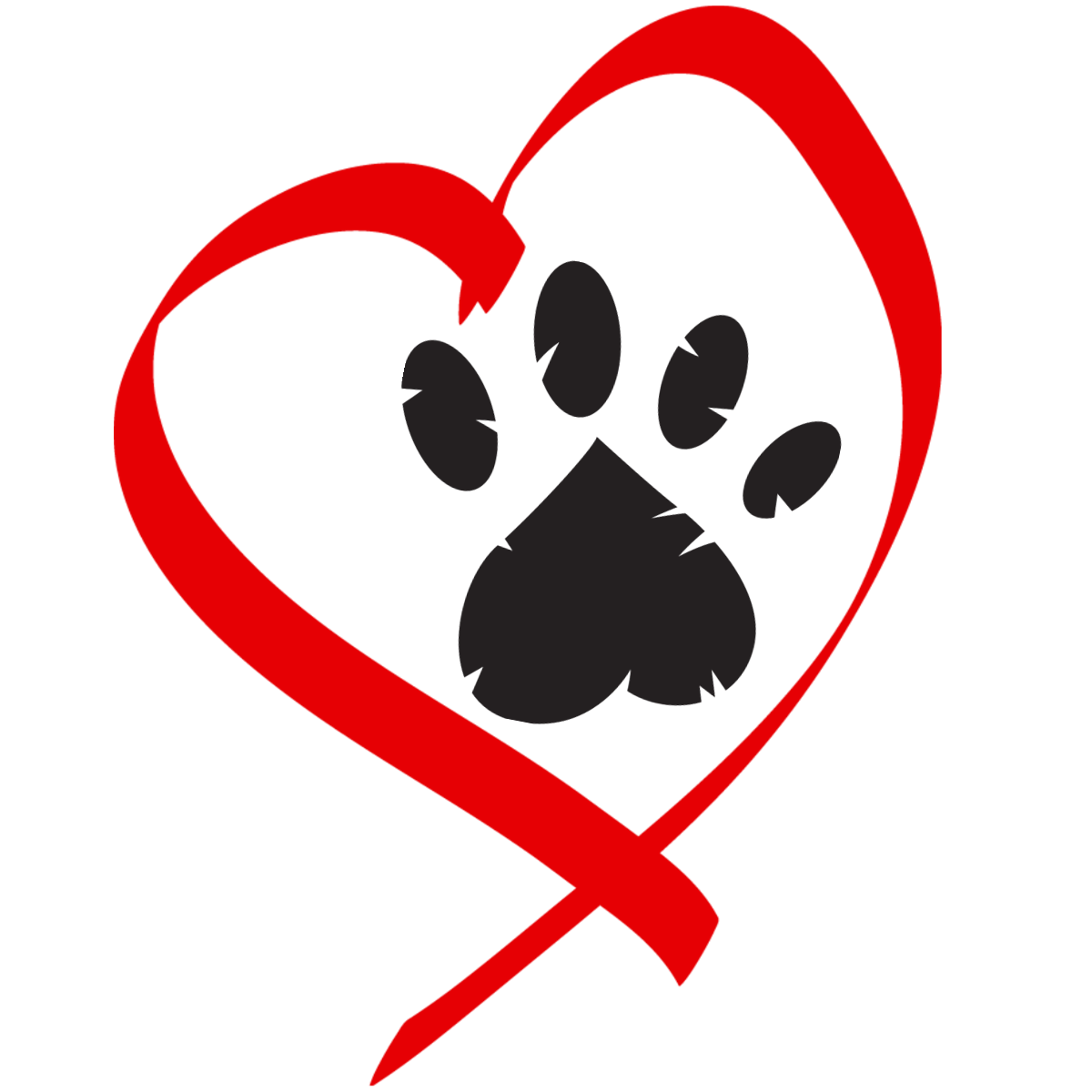 Heart with cross clipart jpg library stock Dog hearts clipart - ClipartFest jpg library stock