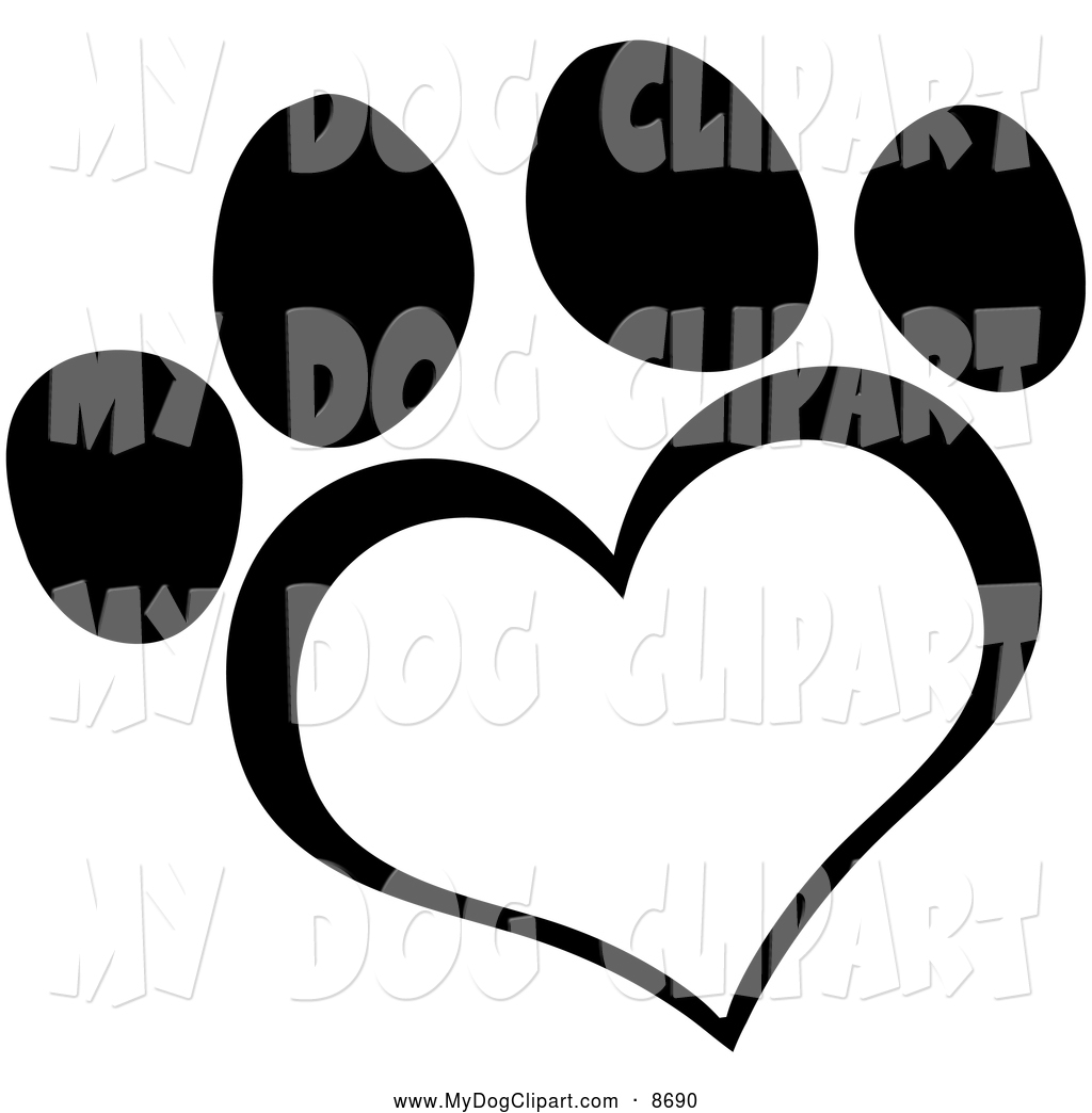 Dog hearts clipart clip royalty free download Dog Paw Heart Clipart | Clipart Panda - Free Clipart Images clip royalty free download