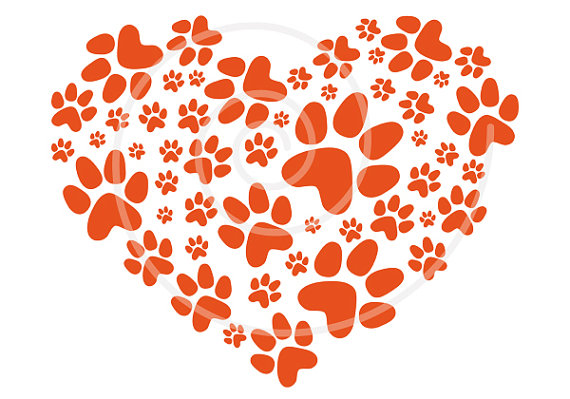 Dog hearts clipart svg black and white stock Dog hearts clipart - ClipartFest svg black and white stock