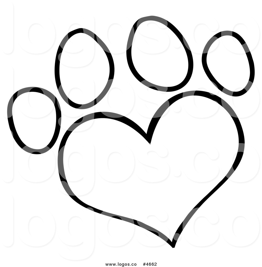 Dog hearts clipart vector freeuse download Heart Paw Print Clipart - Clipart Kid vector freeuse download