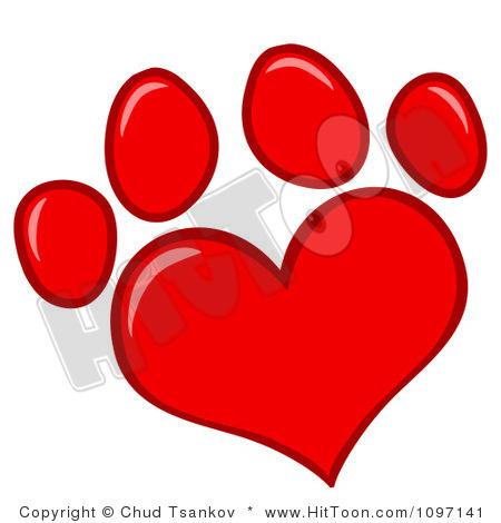 Dog hearts clipart jpg free Dog Paw Heart Clipart | Clipart Panda - Free Clipart Images jpg free