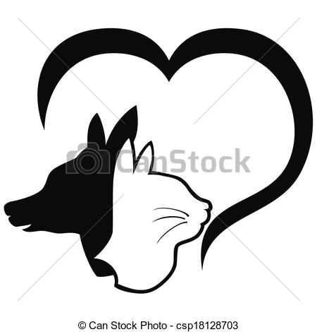 Dog hearts clipart picture black and white download Dog heart clip art - ClipartFox picture black and white download