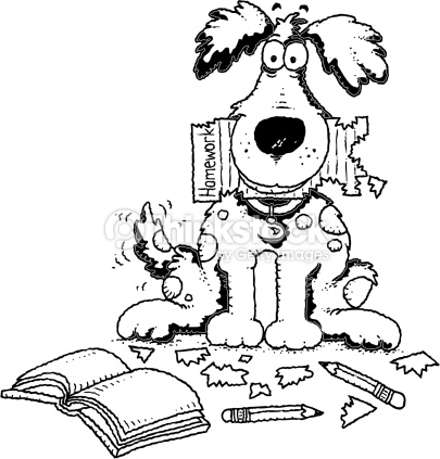 Dog homework clipart clipart png Discovery or homework png