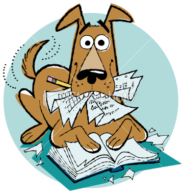 Dog homework clipart clipart png royalty free stock Dog Eating Homework Clipart - Clipart Kid png royalty free stock