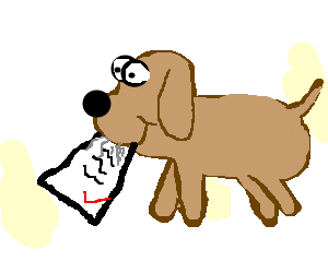 Dog homework clipart clipart png free download Clipart picture of dog eating homework - ClipartFest png free download