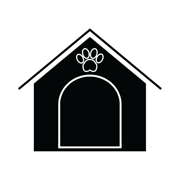 Dog house black and white clipart vector freeuse download Dog House – Free Icons: Easy to Download and Use vector freeuse download