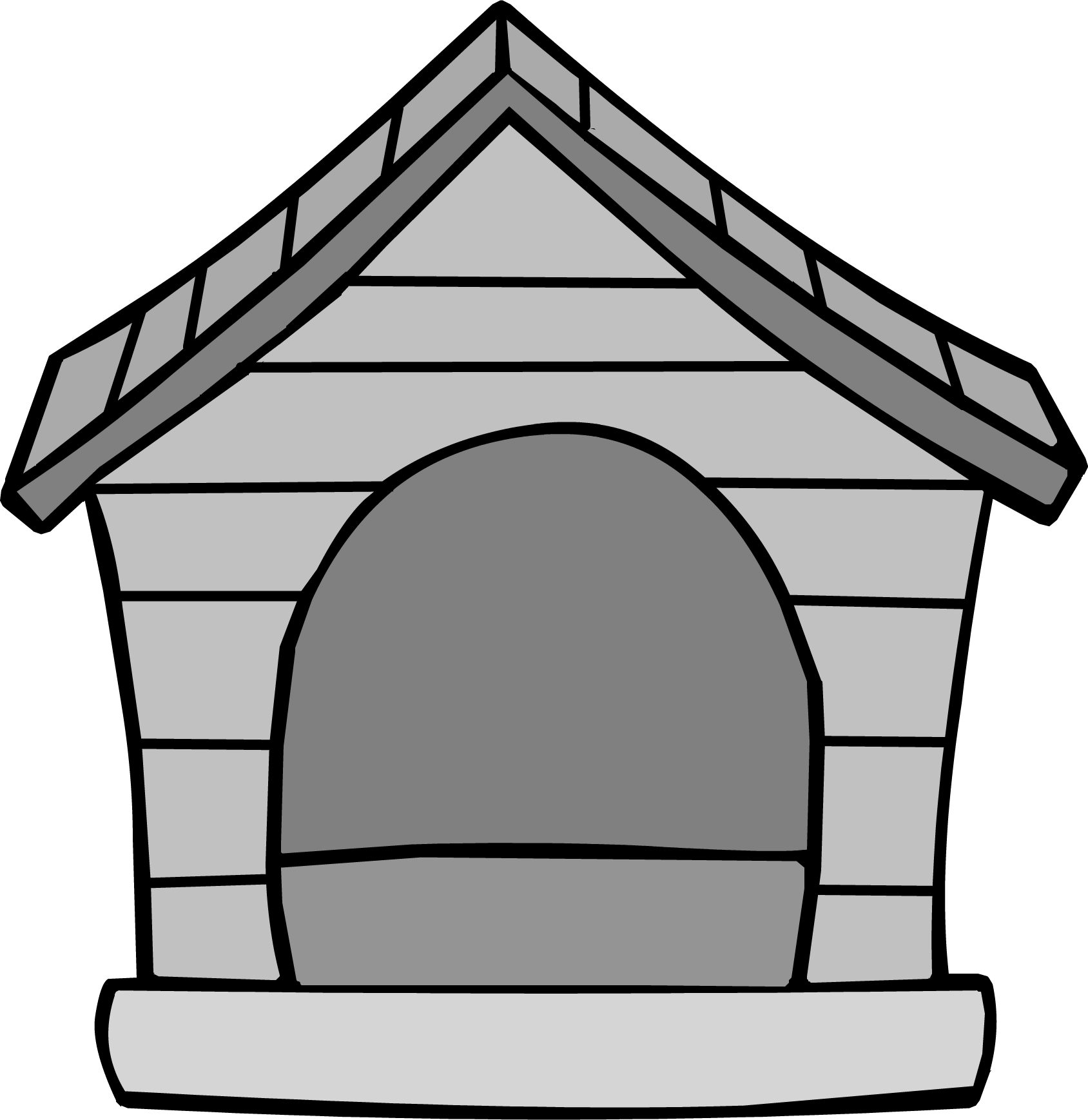 Dog house black and white clipart clipart free library Gray Puffle House | Club Penguin Wiki | FANDOM powered by Wikia clipart free library