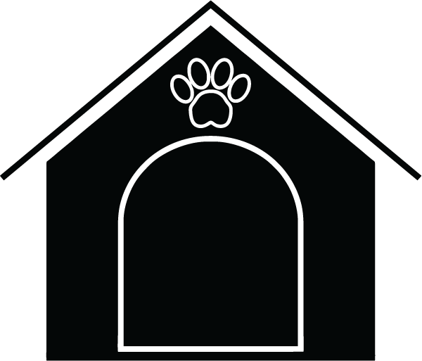 Dog house black and white clipart image transparent download Dog House – Free Icons: Easy to Download and Use image transparent download