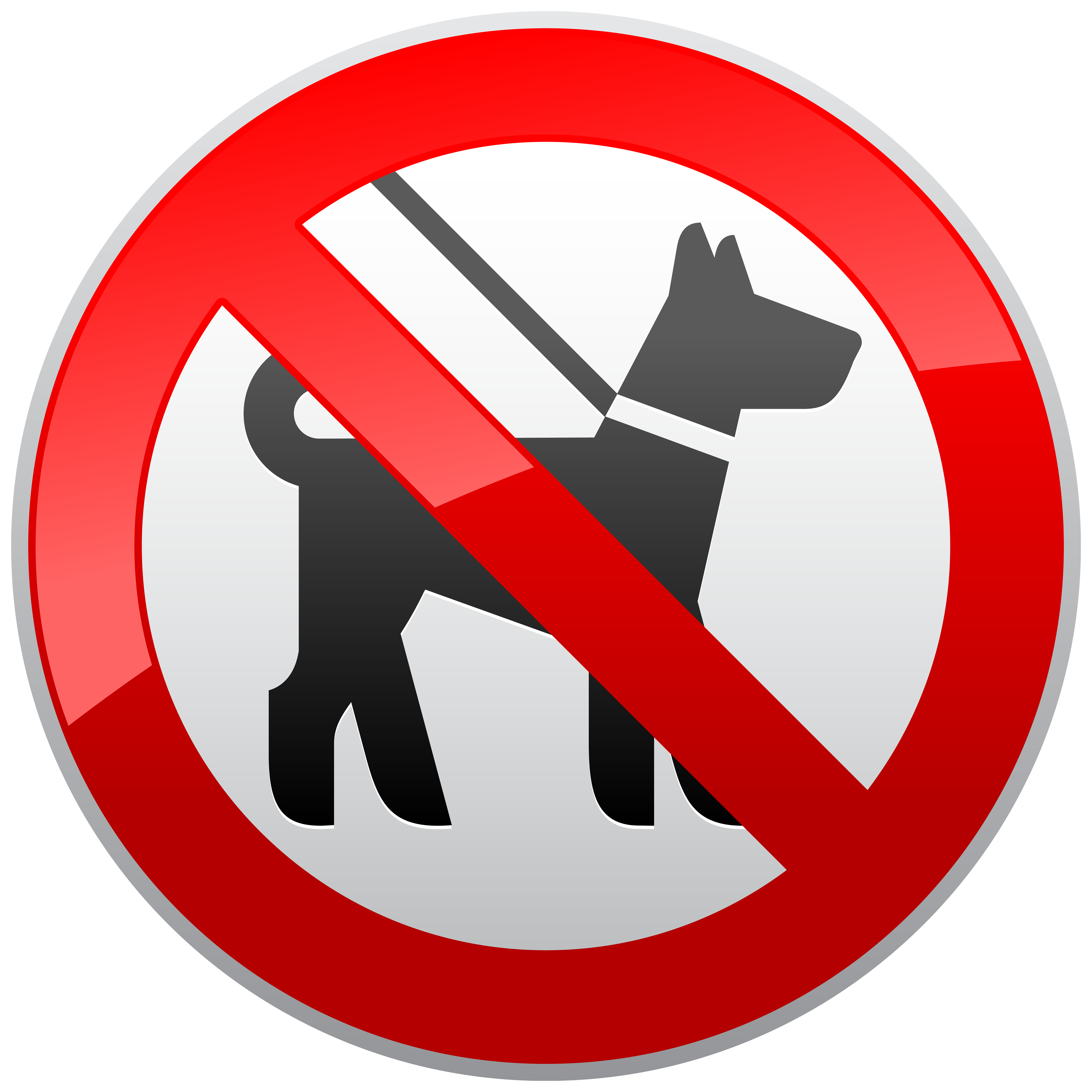Dog stuff clipart png free No Dogs Sign Prohibition PNG Clipart - Best WEB Clipart png free