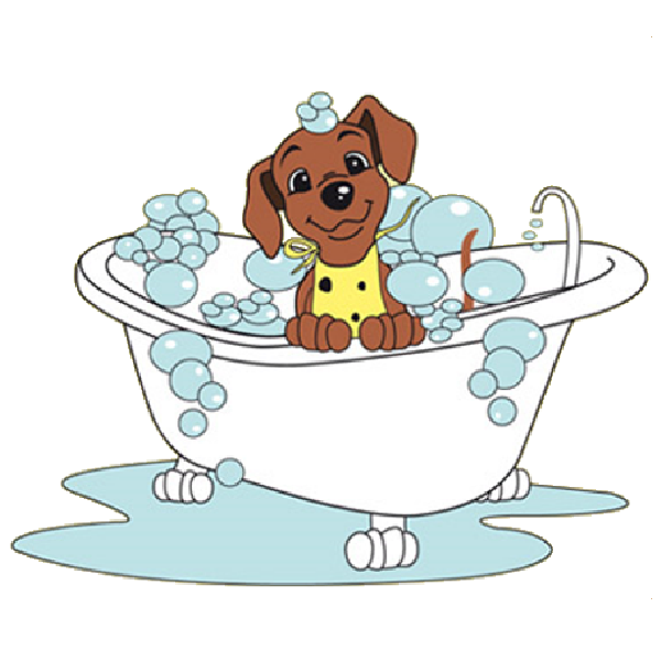 Dog in bathtub clipart clipart black and white Dog In Bathtub Clip Art - Vector And Clip Art Inspiration • clipart black and white