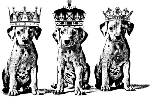 Dog in crown clipart png graphic library download Dalmatian king Puppies dog printable art digi stamp digital graphic library download