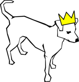 Dog in crown clipart png jpg black and white Dog Wearing Crown Clip Art Vector Online Royalty Free Clipart ... jpg black and white