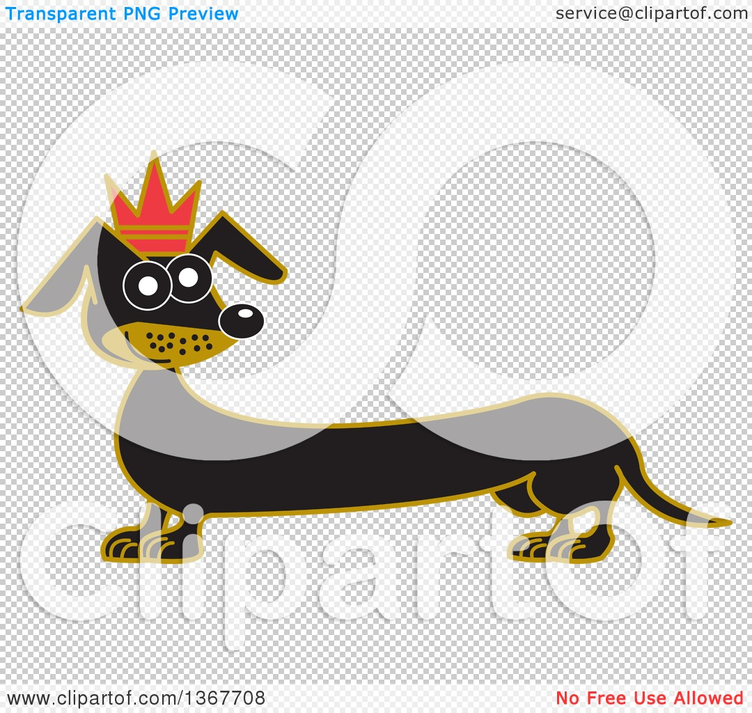 Dog in crown clipart png clipart free download Clipart of a Retro Prince Dachshund Dog Wearing a Crown - Royalty ... clipart free download