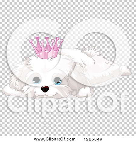 Dog in crown clipart png clipart transparent download Clipart of a Cute Spoiled Bichon Frise or Maltese Puppy Dog ... clipart transparent download